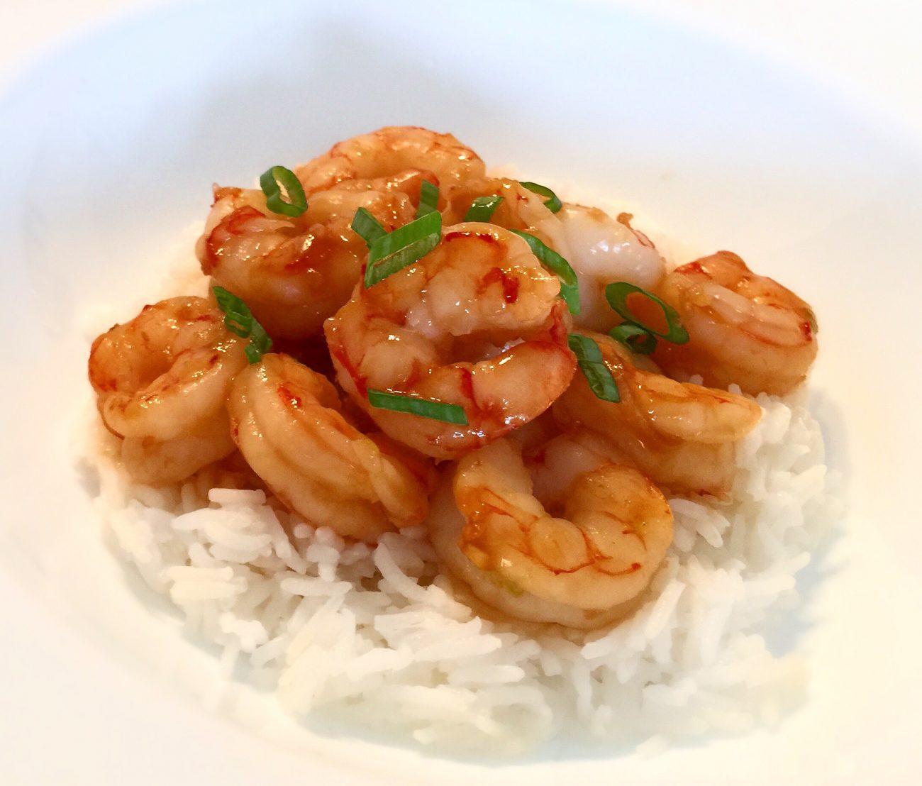 Crevettes divines sauce sésame, lime et gingembre